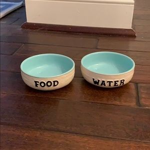 Burlap Signature Housewares Ceramic Pet Bowl Set